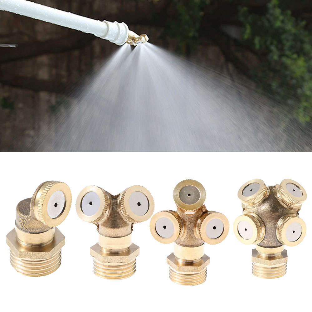 Hose-Connector Spray-Fitting Mounting Irrigation Nebulizer Water-Sprinkler Adjustable