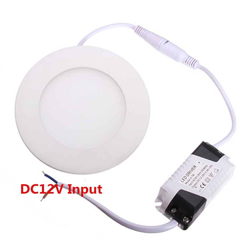 SEACAT 12V 24V led Panel Light 6W 9W 12W 15W 25W Recessed Ceiling LED Downlight Indoor Spot Down Light with adapter 12V/24V LED image