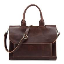 YOOFISH  New  men's messenger bags Leather Shoulder Messenger Business Computer Briefcase Laptop Bag for 12 Inches  LJ-0750