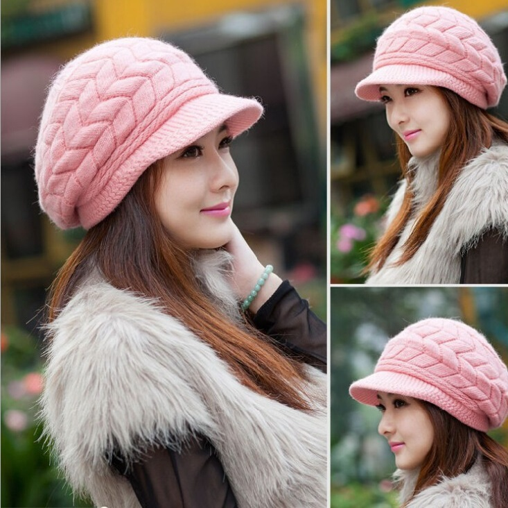 2a4117c28e6 New 2015 Korean Women Winter Hats Girls  Warm Wool Twist Knitted Hat  Fashion Beanies For Woman Flowers Cap Accessories Hot Sale-in Skullies    Beanies from ...