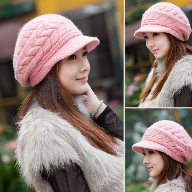 4c47c55def1 New 2015 Korean Women Winter Hats Girls  Warm Wool Twist Knitted Hat Fashion  Beanies For Woman Flowers Cap Accessories Hot Sale-in Skullies   Beanies  from ...