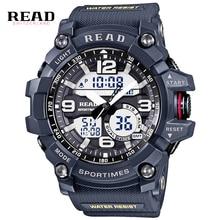 Luxury Brand Men Sports LED Watch Shock Waterproof  Watches Military Men's Analog Quartz Digital Watch Relogio Masculino