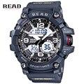 Luxury Brand Men Sports Reloj Del Estilo G Choque Impermeable Relojes Militar hombres de Cuarzo Analógico Digital Reloj Del Relogio masculino