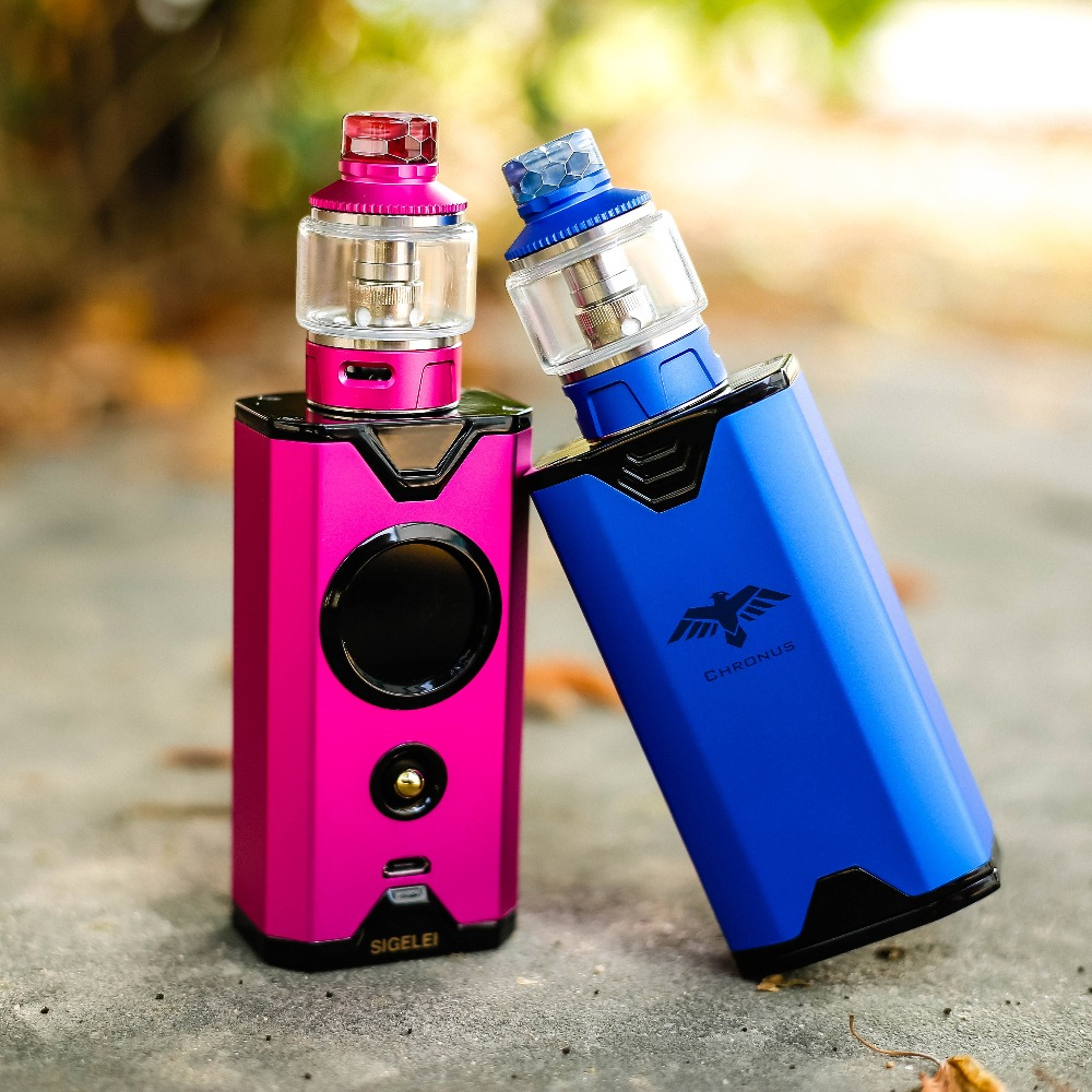 NEWEST E Electronic cigarrete Vape kit Sigelei Chronus Kit super power 10 - 200w New system design Better experience feelings