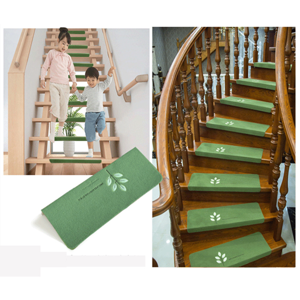 Ouneed Luminous Visual Stair Carpet Pad Anti-Skid Staircase Mats Safe Treads Soft *30 2017 hot sale