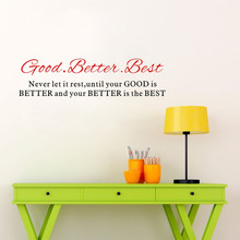 Good Better Best Inspirational Quotes Wall Sticker Removable Art Sayings Home Decor