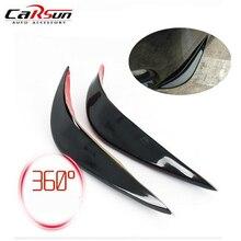 цена на 2Pcs Universal Anti-collision Strip Car Sticker Lip Skirt Protector Car Front Lip Bumper Car Rubber Strip 40mm Width For Any Car