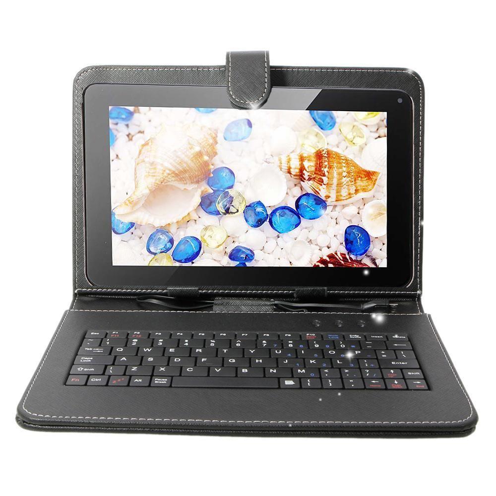 Бесплатная доставка подарок 8 ГБ BODA Планшеты ПК Android 4.2 9 дюймов Большой Q88 4 ядра A33 800*480 HD W/клавиатура