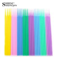 SHIDISHANGPIN 100 pièces/sac outils dextension de cils jetables applicateurs de cils individuels Mascara pinceaux de maquillage coton tige