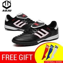 AOJU New Football Boots Soccer Shoes Men Lightweight For Sale Kids Cleats TF Chuteira 4 Colors