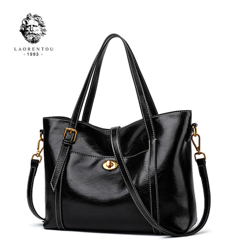 LAORENTOU Brand handbags   Fashion Shoulder Messenger Bag 2018 new large-capacity leather atmospheric handbag ToteLAORENTOU Brand handbags   Fashion Shoulder Messenger Bag 2018 new large-capacity leather atmospheric handbag Tote