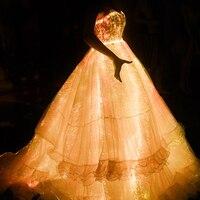 [CHENS SISTER] Smart App Control Luminous Annual Dinner Dress Dreamy Light Dress Sexy Starlight Party Dress Led Dress Women