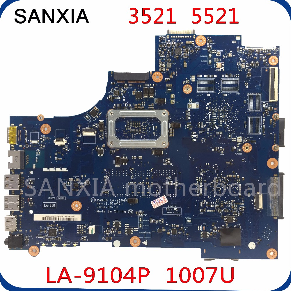 SHELI LA-9104P original motherboard for dell 3521 5521 laptop motherboard 1007U/2117U/2127U original tested mainboard