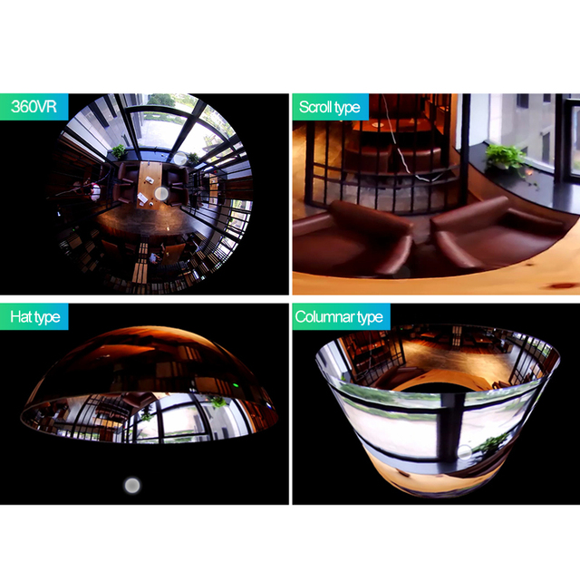 XM Panoramic 360 VR 960P 1080P 3MP HD IP Camera Smart LED Lights Cam Starlight night vision Bulb Home Security Camera