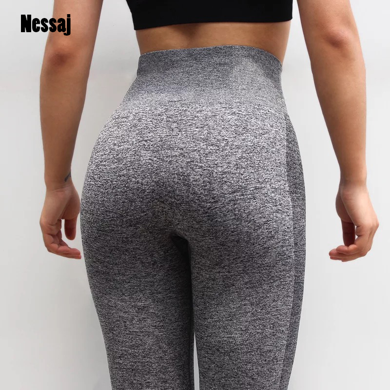 Nessaj Fashion Women Leggings Ladies Autumn High Waist Workout Leggings Bodybuilding Sexy Leggings Athleisure Fitness Leggings