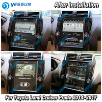 YESSUN 12.1'' HD Vertical Screen For Toyota Land Cruiser Prado 2014~2017 Car Radio Android Carplay GPS Navi maps Touch no CD DVD