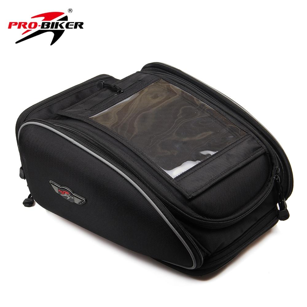 ФОТО Motorcycle Riding Waterproof Magnetic Oil Fuel Tank Bag Motorbike Multifunction Portable Tool Tail Bag Handbag Luggage