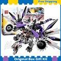 691 pcs bela ninja 10224 presentes caixa original conjunto nindroid dragão mech building brinquedos compatíveis com lego