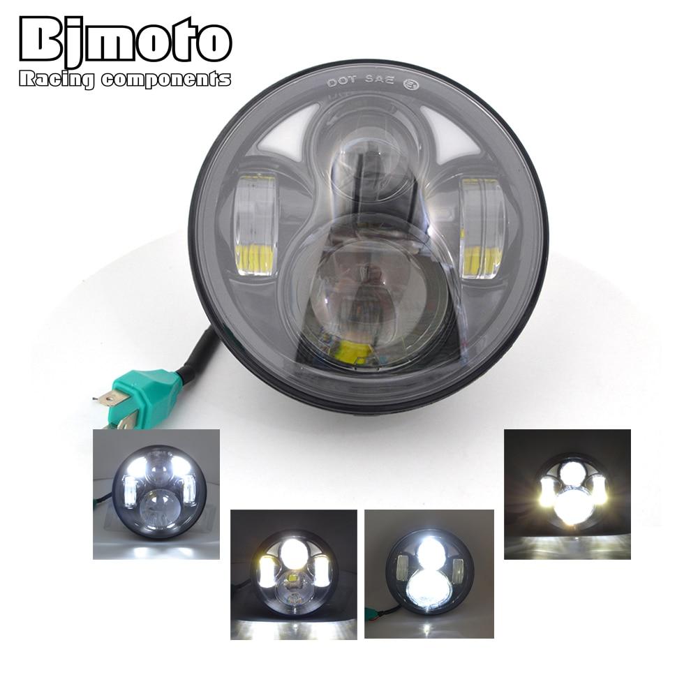 Bjmoto motorcycle 5.75 LED headlight Projection Daymaker H4 headlamp for harley Dyna VRSCD VRSCDX FLSTSE FLSTSB FXSTC FXSTD XL