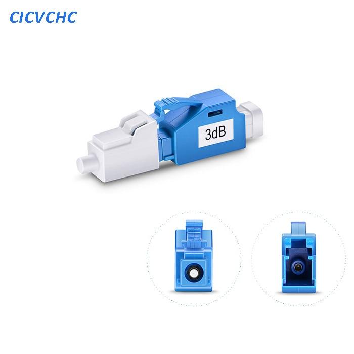 5pcs 3dB LC/UPC Singlemode Fixed Fiber Optic Attenuator, Male-Female