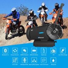 AiRide R2 Casco Del Motociclo di Bluetooth Intercom Impermeabile Moto Casco Auricolare 1000 m 4 Rider BT Interphone Intercomunicador FM
