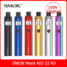 Original SMOK Nord AIO 22 Kit 3.5ML+2000mah Battery+Nord Mesh+Regular coil Electronic Cigarette nord aio 22 kit vs novo vape kit xfkm 5pcs cubis bf ss316 coil 0 5ohm 0 6ohm 1 0ohm ego aio coils evaporators replacement head for cubis pro ego aio kit
