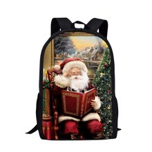 3D Merry Christmas Print School Backpack Teenagers Boys Cute Book Bag Kids School Bags Backpack Camping Mochila Escolar Bagpack недорого