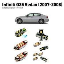 Led interior lights For Infiniti g35 sedan 2007-2008  12pc Led Lights For Cars lighting kit automotive bulbs Canbus цена