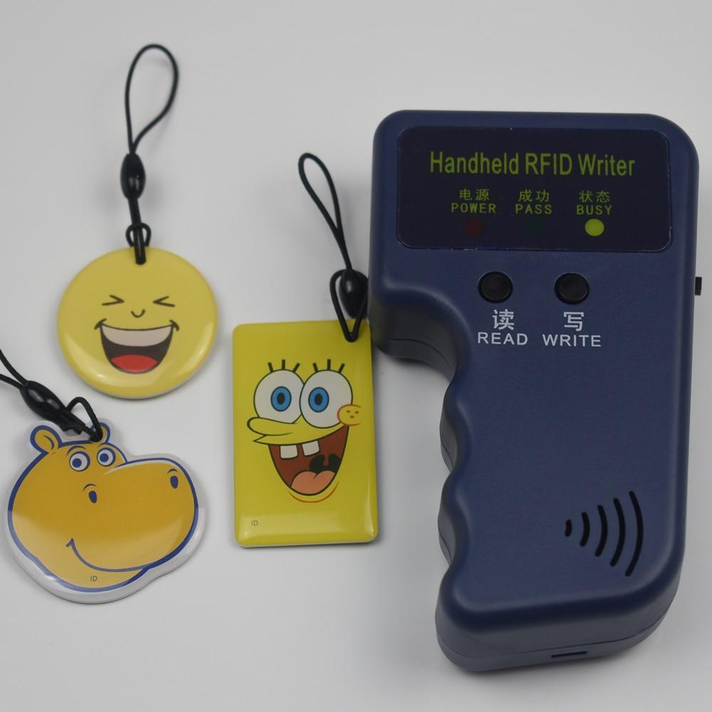 RFID Handheld Copier Duplicator 125KHz ID Door Access Control Card Copier Writable EM4305 T5577 Keyfob Reader Writer