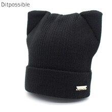 Ditpossible autumn winter hat skullies beanies girls women bonnet caps knitted hats gorro