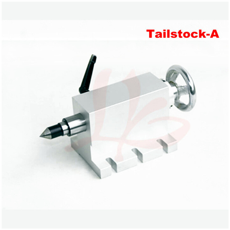 CNC tailstock 4 Axis,MT2 Rotary Axis Lathe Engraving Milling Machine Chuck mt2 rotary axis lathe engraving machine chuck for mini cnc router engraver