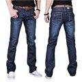 Прямо жан Для мужчин-длинные брюки мода лето весна высокого качества мужские брюки свободные Омывается Лучших Продавцов горячей Большой размер Гент жизнь