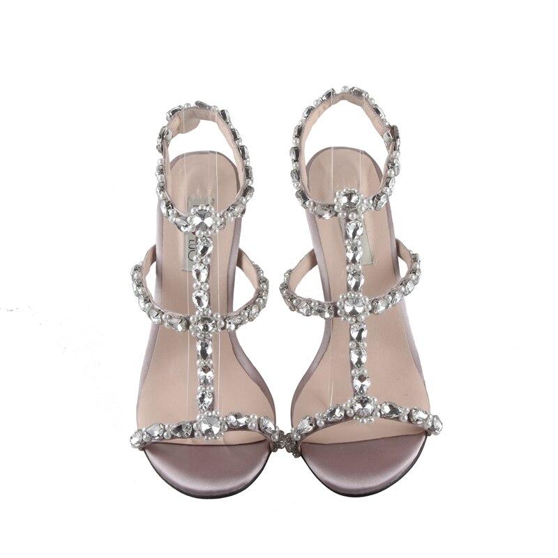 Ayakk.'ten Orta Topuklu'de BS046 Özel El Yapımı Wisteria Mor Ile Afrika Ayakkabı uyumlu çanta Set Strappy Elbise Sandalet Büyük Boy Düşük Topuk Kadın Ayakkabı'da  Grup 2