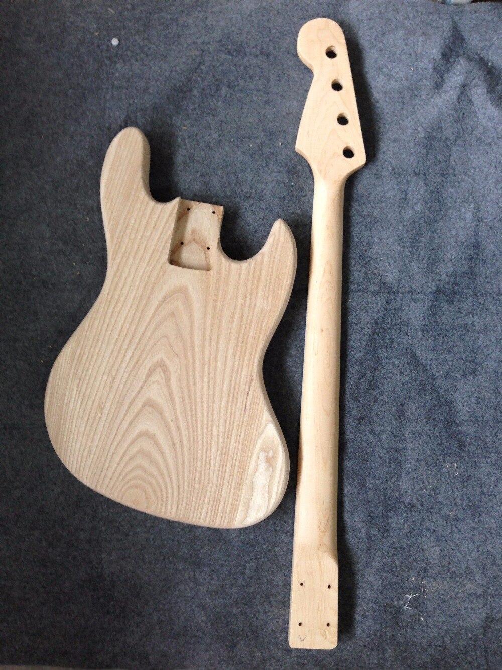 Usine vendre Jazz guitare Basse électrique corps en frêne non compris pièces/kits de guitare