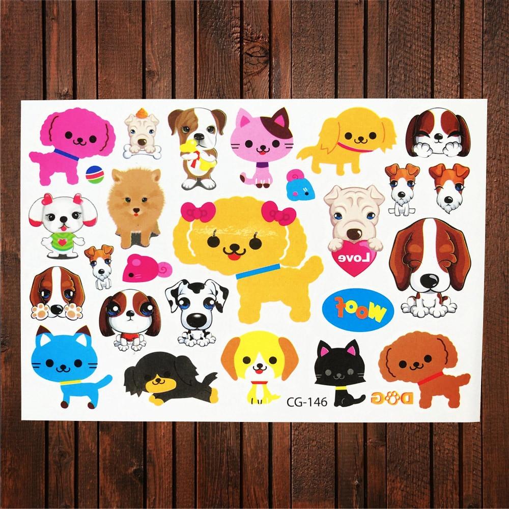Motiviert Fanrui Glücklich Hund Team Wasserdichte Temporäre Tattoo Für Kinder Körper Kunst Gefälschte Flash Tattoo Aufkleber, Junge Spielzeug Weihnachten Geschenke Tatoo