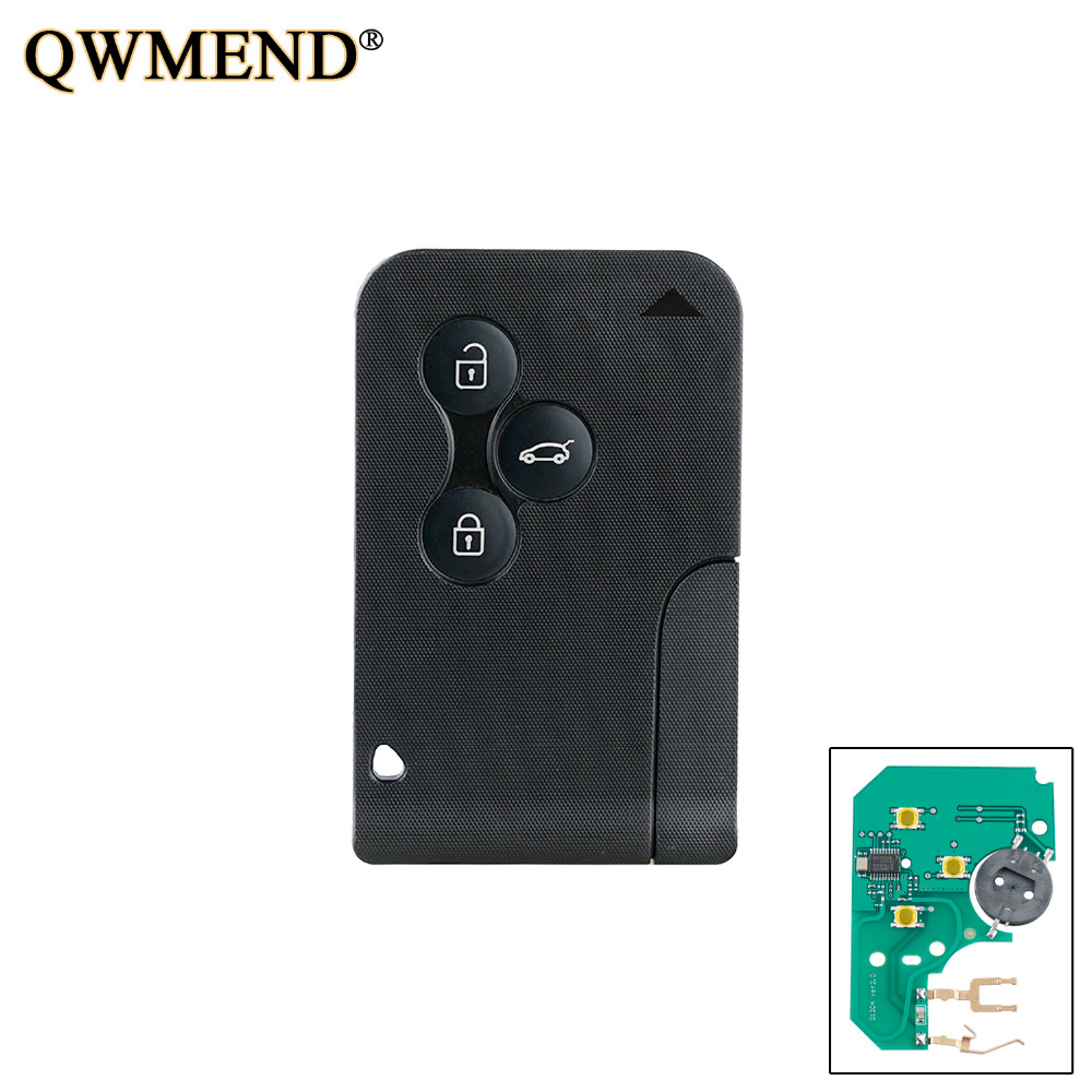 QWMEND 5pcs 3BT 434Mhz PCF7947 chip Smart Remote Key Keyless Fob For Renault Megane Scenic 2003