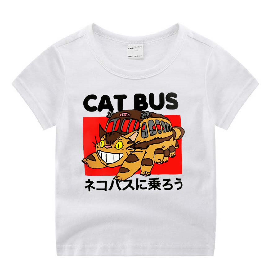 Baby Boy Clothes Movie My Neighbor Totoro and The Cat Bus Cartoon Print T shirt Kids Summer O Neck Tops Boys & Girls Tshirt|T-Shirts| - AliExpress