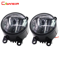 Cawanerl 2 Pieces Car LED Left Right Fog Light Daytime Running Lamp DRL Accessories For Peugeot