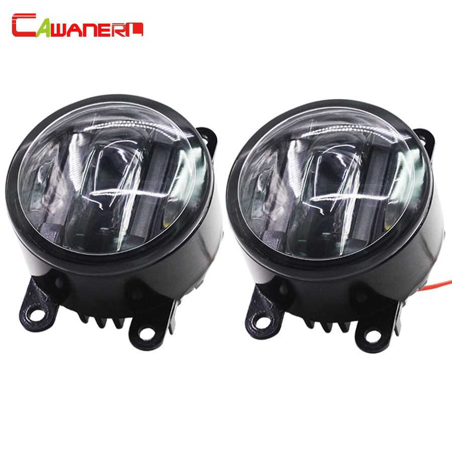 Cawanerl 2 Pieces Car LED Left + Right Fog Light Daytime Running Lamp DRL Accessories For Peugeot 307 207 buildreamen2 car styling led light right left fog bulb daytime running lamp drl 12v for infiniti m56 2011 2012 2013