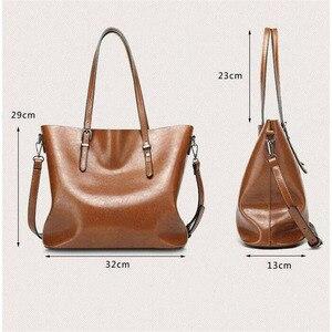 Image 2 - Shoulder Bags for Women 2020 Famous Brand Luxury Handbag Women Bags Designer Shoulder Crossbody Bag Soft Leather Handbag Vintage