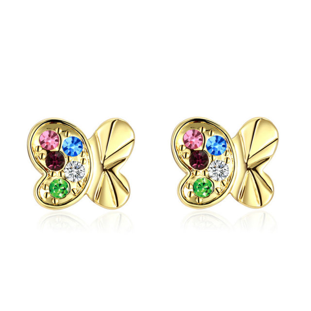 multi claire stud s earrings colored fireball us