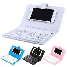 Ультратонкая веломайка для телефона с bluetooth-клавиатурой, чехол из искусственной кожи с подставкой для IPhone 4,5-6,8 дюймов/Android, портативный телефон