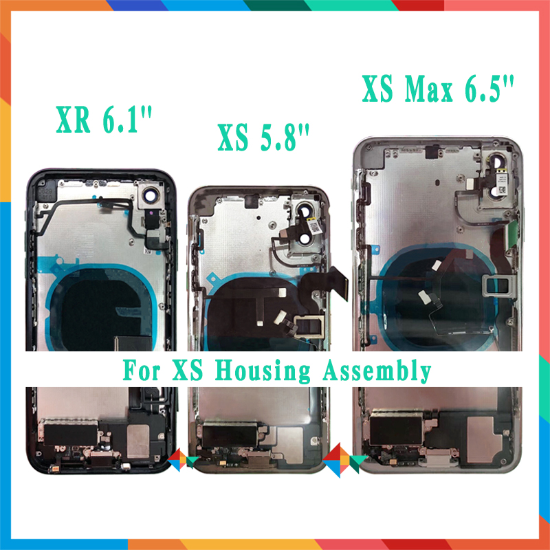 Back Cover For iphone X XR XS XS Max Back Middle Frame Chassis Full Housing Assembly