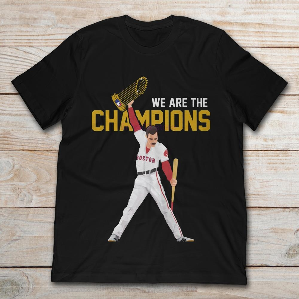 cf4302f7dc4c GILDAN 2019 Brand Freddie Mercury We Are The Champions Boston Red Sox men t  shirt-in T-Shirts from Men's Clothing on Aliexpress.com | Alibaba Group