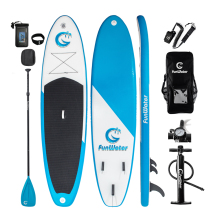 "FunWater 11 '* 33 ""* 6"" Paddle Board Paddle Sup W' Paddle, Bag, Leash, Pump, Bag Phone"