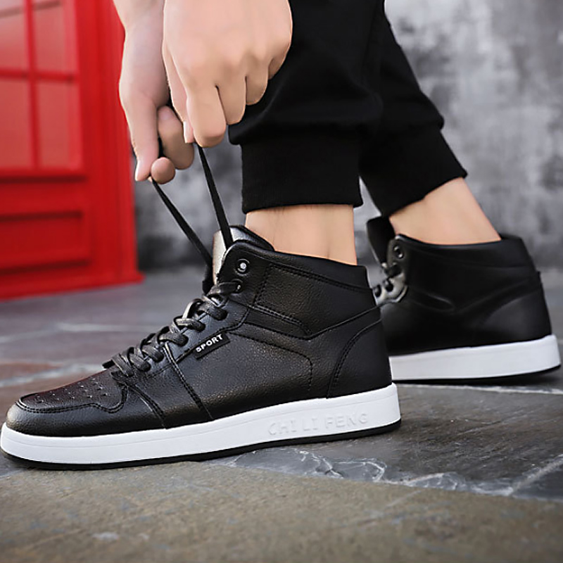 Black Les De Non 45 Amortissement slip Printemps automne Pour Sneakers Chaussures 38 Haute Vulcaniser Hommes Taille white Grande red top Étudiants Mode pvwgHgq
