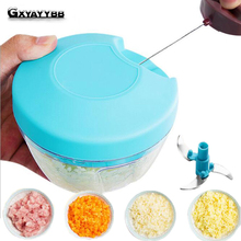 Vegetable Chopper Multifunction Cutter Processor Garlic Fruit Twist Shredder Manual Meat Grinder juice