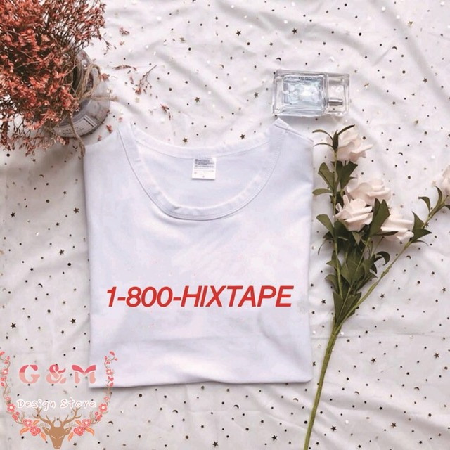US $5 33 16% OFF|OKOUFEN korea tumblr KPOP 1800 HIXTAPE tshirt J Hope suga  BTS T Shirt unisex streetwear fashion O neck top tee cool red print-in