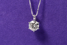 Queen Brilliance Solid 18K 750 White/Yellow Gold 1.5 Ct  DEF color Moissanite Diamond Pendant Necklace Fine Jewelry