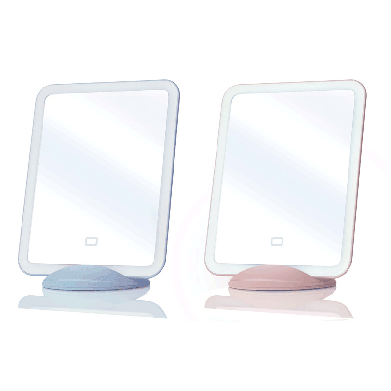 Protable Touch Screen Led Makeup Cosmetic Mirror Magnet Desktop Table Stand USB Charge Night Light Lamp Lighted Vanity Mirror 1 night stand